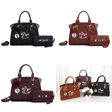 HANDBAG GRED AAA - BLACK , BROWN , PURPLE