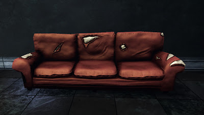 Red Paltry Couch