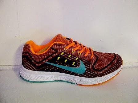 Jual nike, sepatu oren, sepatu nike running, sepatu jogging