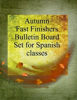 La Profesora Frida's Autumn Fast Finishers Bulletin Board Set