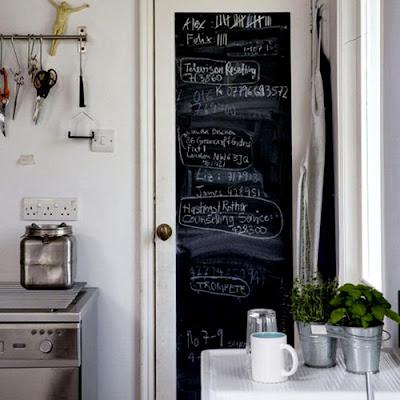 pintar lacar una puerta en color negro con pintura de pizarra