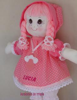 Muñeca de trapo personalizada