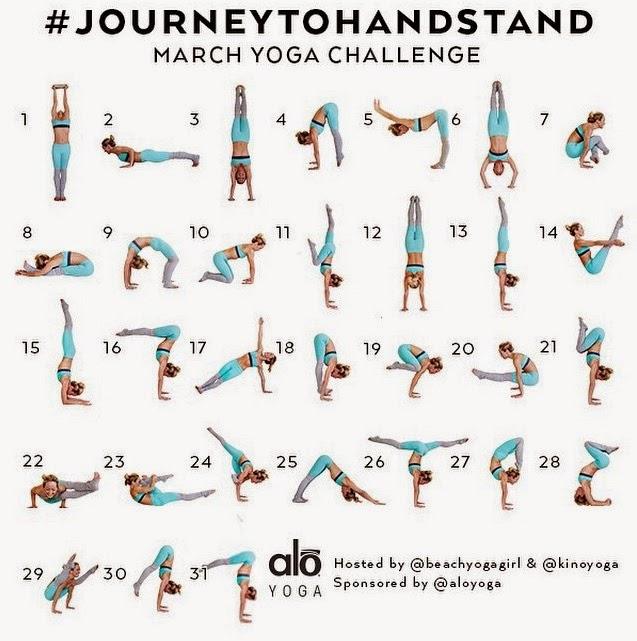 Purple Tulips Journey To HandStand Yoga Challenge