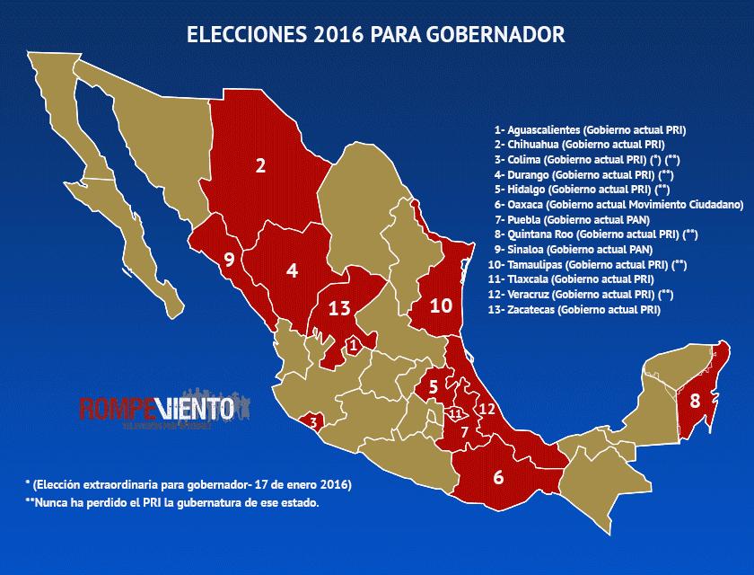 Elecciones 2016 Related Keywords & Suggestions - Mexico Elecciones ...