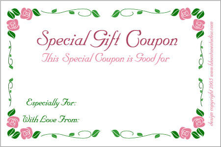 Blank Coupon Voucher Template