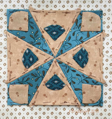 Dear Jane Quilt - Block F11 On Target