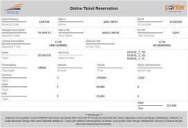 invoice tiket kereta api online