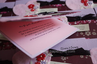 Handmade heart wedding engagement invitation card