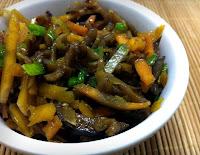 Salada de Berinjela com Abóbora e Cenoura (vegana)
