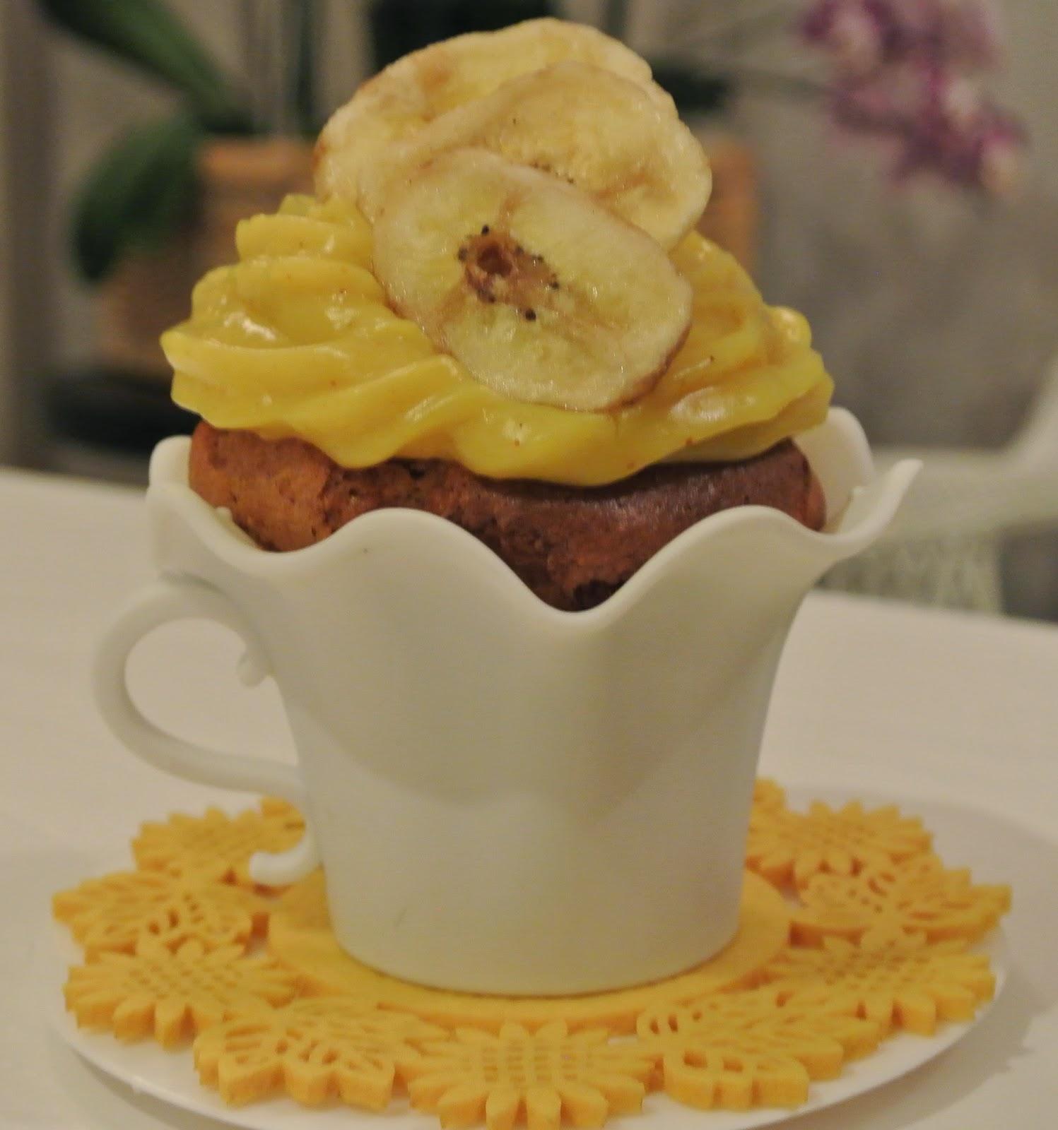 cupcake alla banana e mandorle