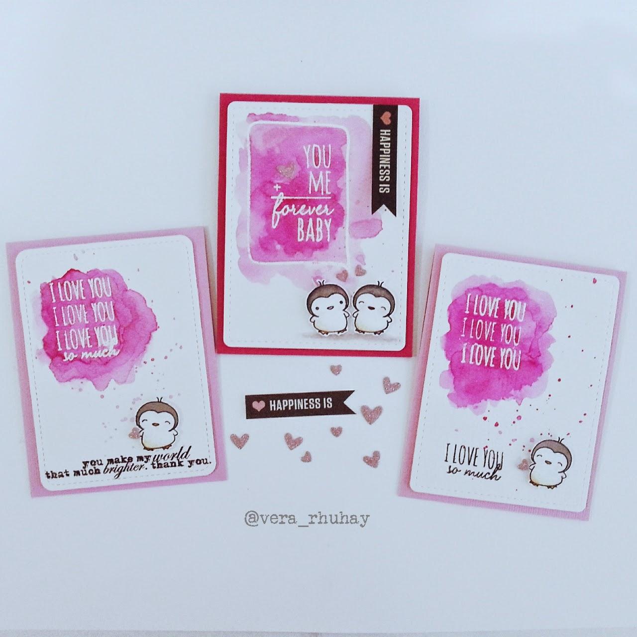 moccavanila by vera rhuhay Valentines Card with Mama Elephant – Elephant Valentines Card