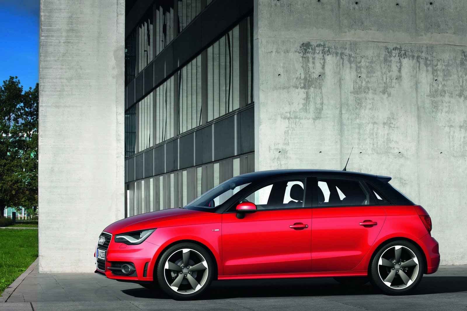 audi a1 sportback revealed. Black Bedroom Furniture Sets. Home Design Ideas