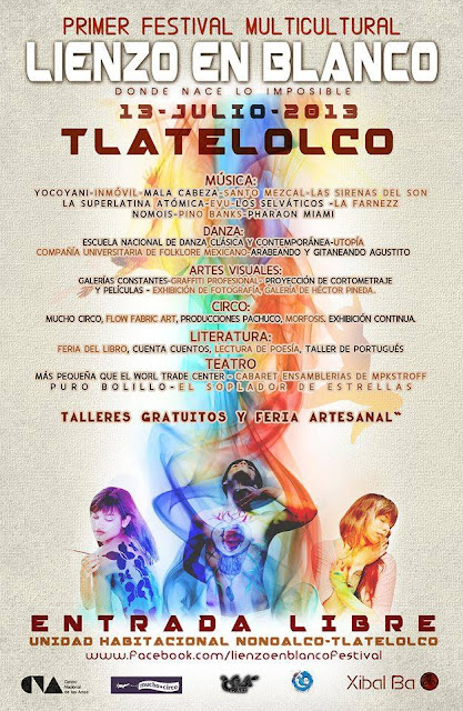 """Festival Multicultural """"Lienzo en Blanco"""" a celebrarse en Tlatelolco"""