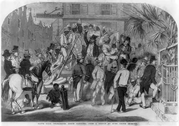Charleston slave auction