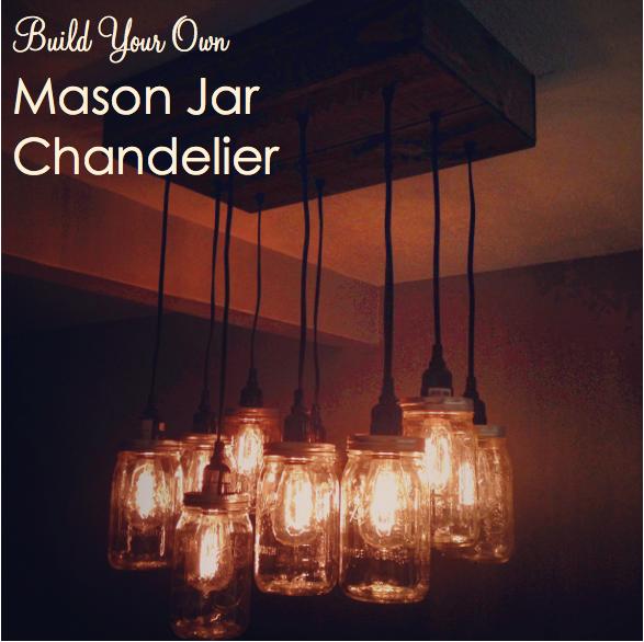 Flip with love diy mason jar chandelier part two - Diy chandelier kit ...