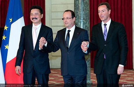 Direktur Utama Lion Air, Presiden Perancis, dan CEO Airbus