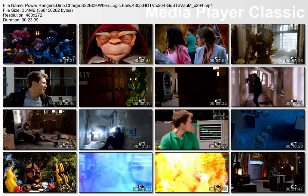 Power Rangers Dino Charge Episode 9 When Logic Fails Indonesian