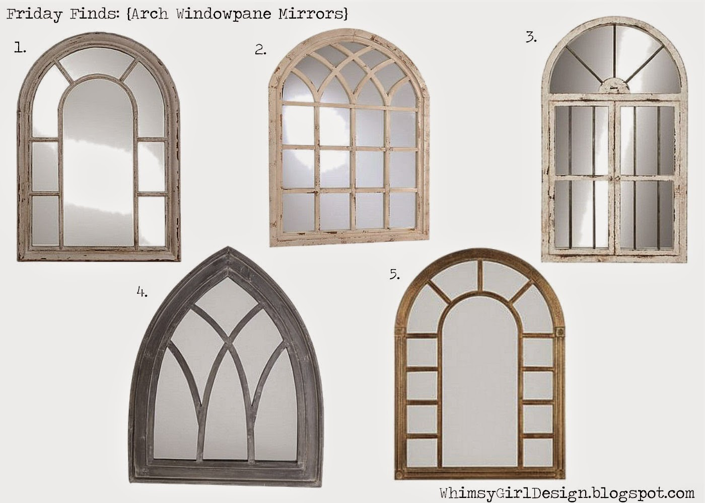 Whimsy girl friday finds mirror mirror on the wall for Window arch wall decor