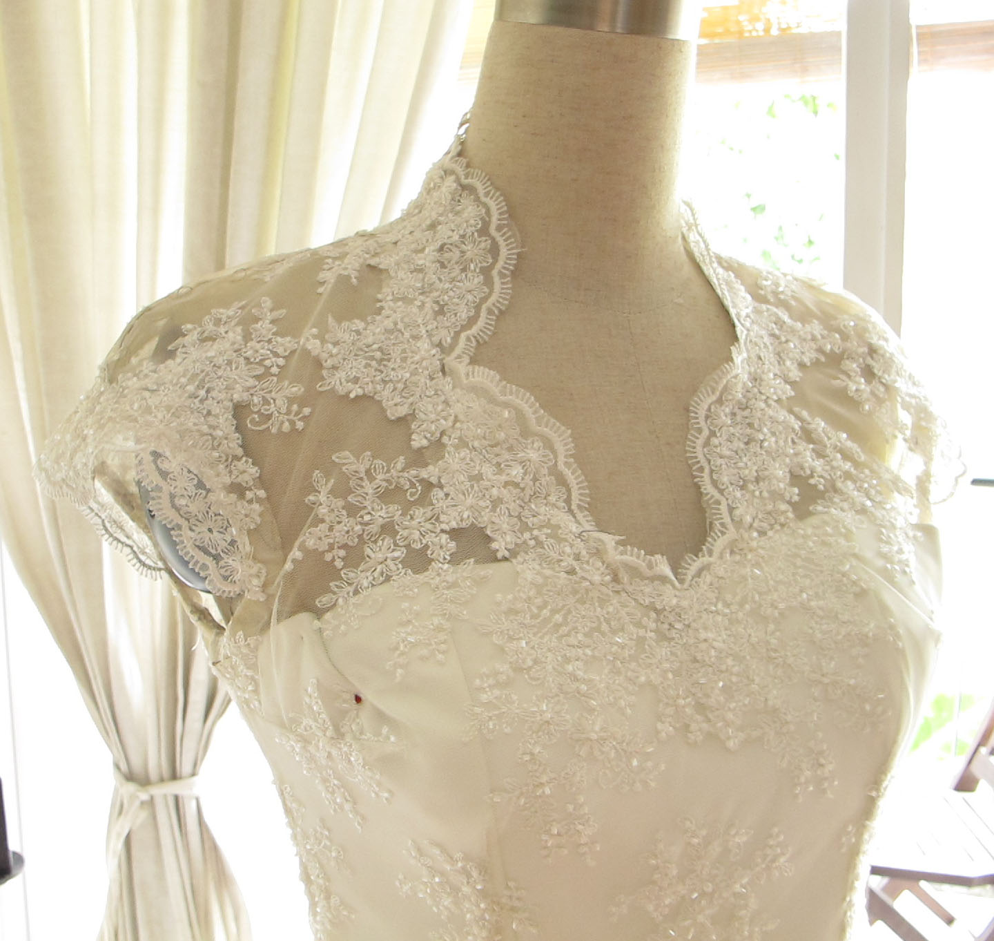 Lace top bits for your wedding dress on pinterest lace for Lace dresses for weddings