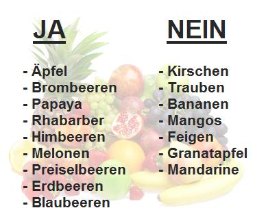 kohlenhydrate diät liste