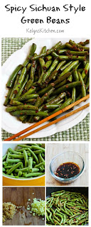 Spicy Sichuan Style Green Beans Recipe (Low-Carb, Gluten-Free, Vegan) [from KalynsKitchen.com]