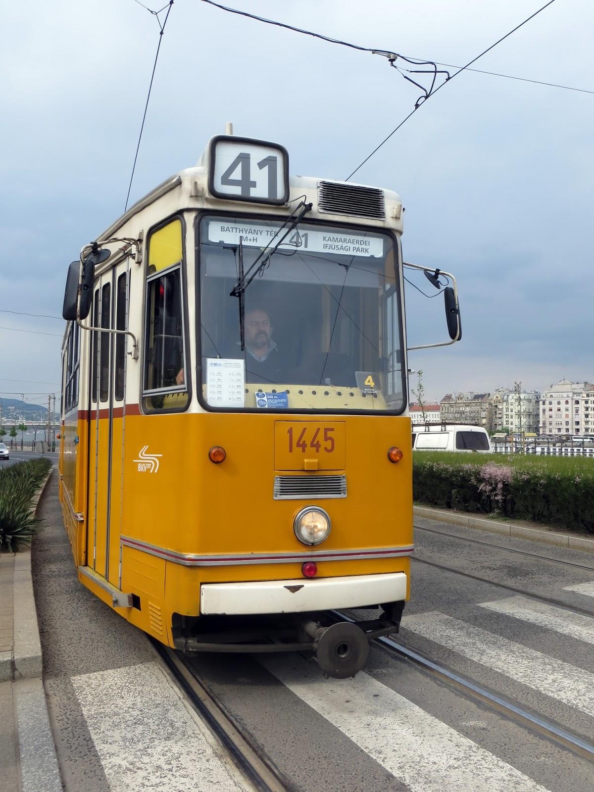 Budapest tram, hungary, eastern Europe
