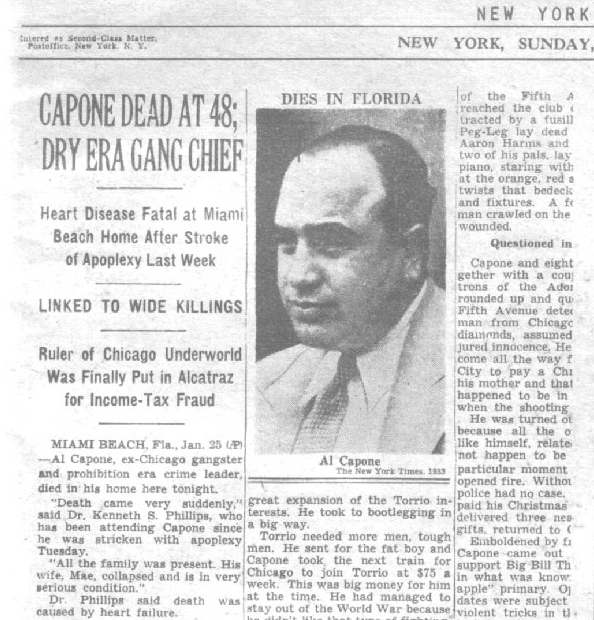 research paper on al capone Essay al capone al capone was an italian criminal working the streets of  america he started his life with petty crime in brooklyn, new york after  escalating his.