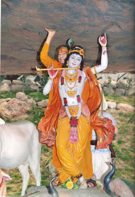 Jagadguru Shree Kripaluji Maharaj at Govardhan Hill at Prem Mandir, Vrindavan