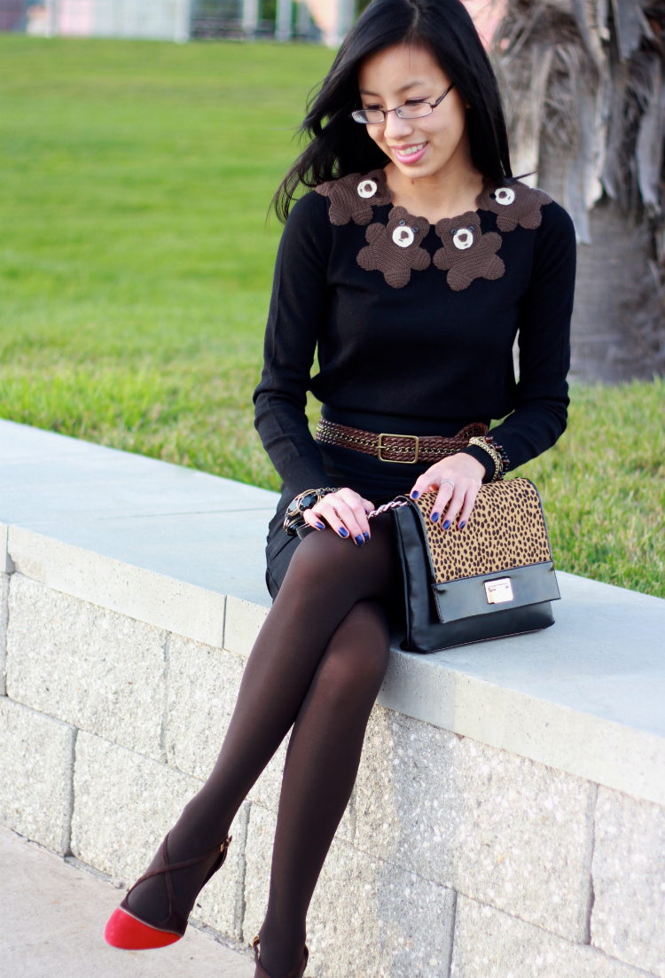 brown and black fashion rule outfit idea inspiration