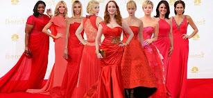 Premios Emmy 2014. Los vestidos rojos de las celebridades.