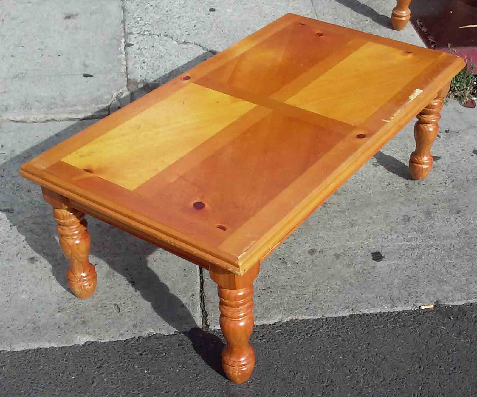 Uhuru Furniture Collectibles Sold Reduced Knotty Pine Coffee Table 45