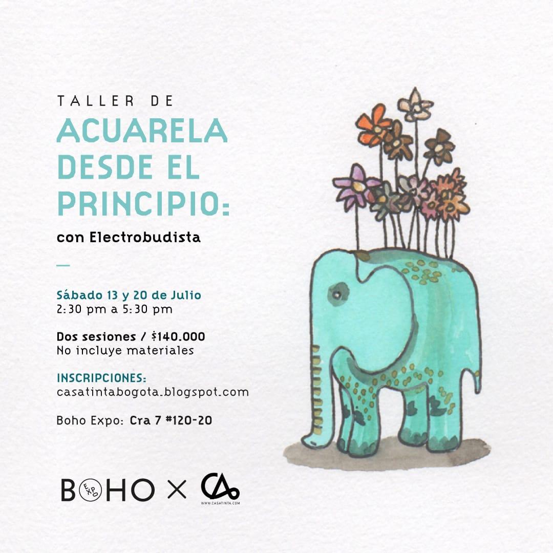 ACUARELA DESDE EL PRINCIPIO BOHO// 13 de julio