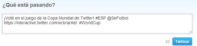 tweet apoyo España mundial brasil 2014 twitter