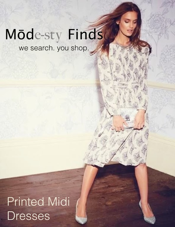 Modest printed midi dress with sleeves | Mode-sty #nolayering tznius tzniut jewish orthodox muslim islamic pentecostal mormon lds evangelical christian apostolic mission clothes Jerusalem trip hijab fashion modest