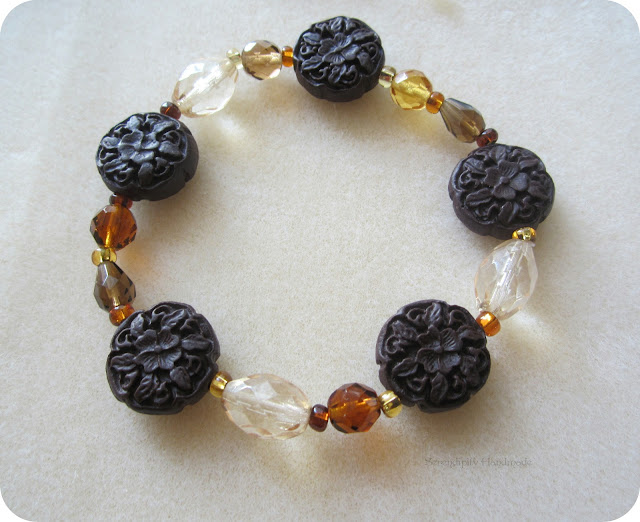 Autumn Beaded Bracelet, Serendipity Handmade blog