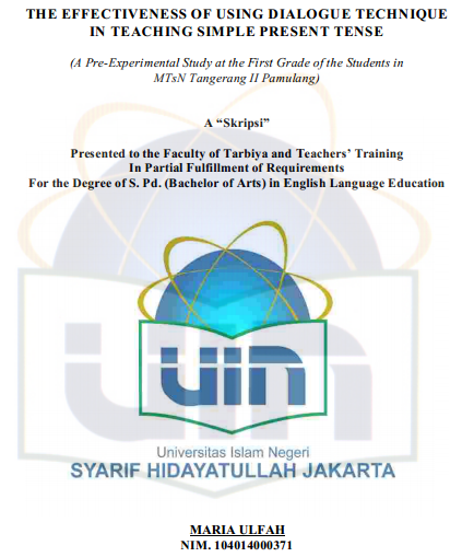 Inggris: using dialogue technique in teaching simple present tense