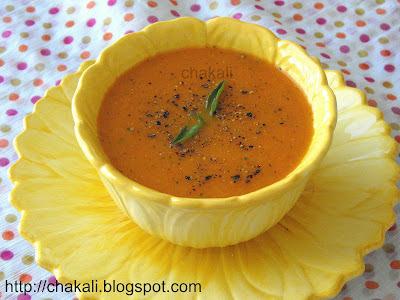 tomato carrot soup, Healthy soup recipe, soup recipe, tomato soup, carrot soup
