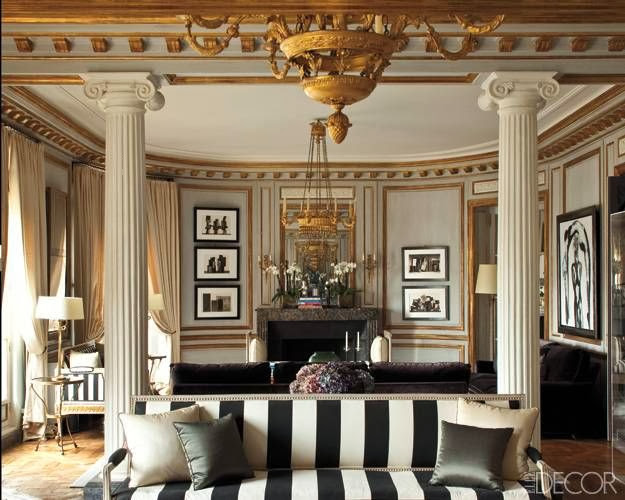 gray formal living room gilded gold wall trim lighting accessories
