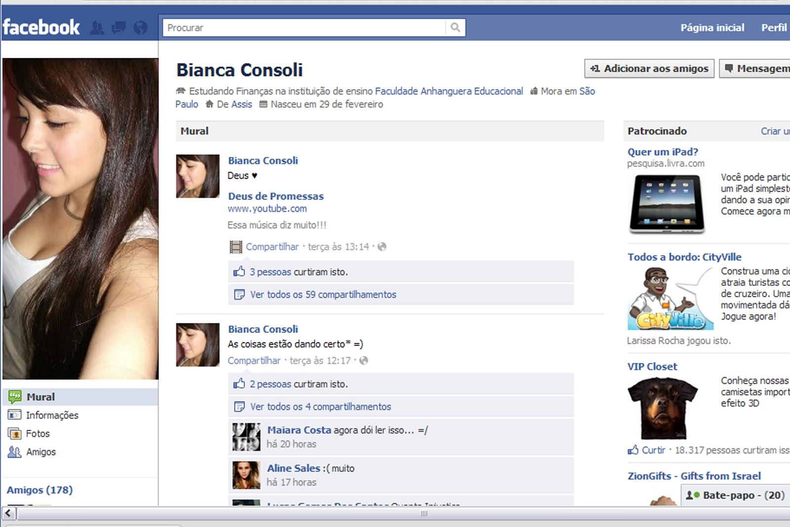 a Universitária Bianca Ribeiro