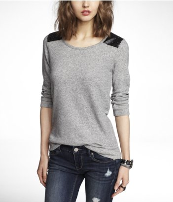 express perforated minus the leather sweatshirt