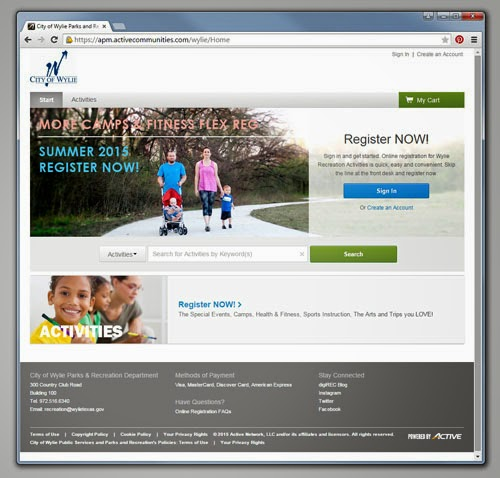 Wylie Recreation Registration Site