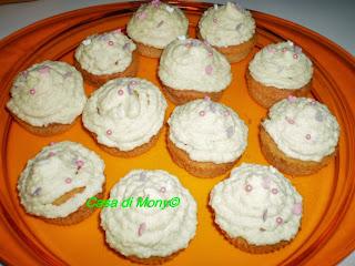 cupcake con ganache al cioccolato bianco