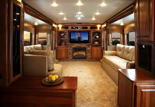 Luxurious RV Living Room This Is Ideal Campers RVs And