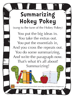 Picture Book Lessons: The Summarizing Hokey Pokey: That's What ...