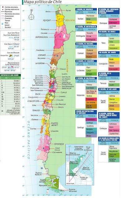 Mapa politico de Chile