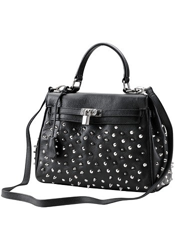 Melrose Glam Kellia Studded Leather Bag