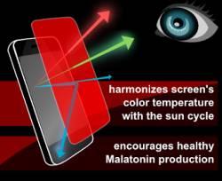 luminosità colore schermo android