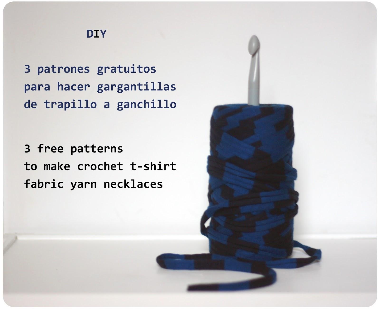 Armiarma: 3 patrones gratuitos de gargantillas de trapillo/ 3 free ...