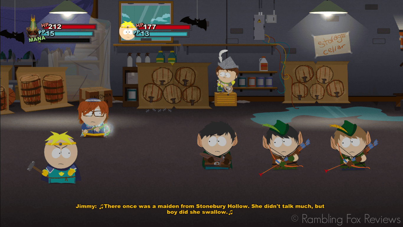 South Park: The Stick of Truth - Game Review fight with jimmy bard
