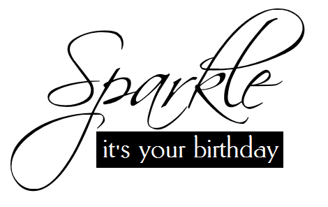 Sparkle free birthday sentiment